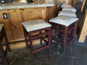 Restaurant Bar Stools By Seating Masters Premium Oversized Solid Wood