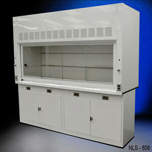8 Chemical Laboratory Fume Hood With General Storage Cabinets New Quick Ship