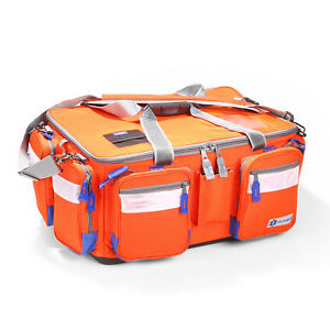 Plano Trauma Bag Orange Lockable Zippers 911100 New With Tags