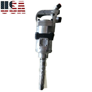 1 4200rpm Air Impact Wrench Gun Long Shank Commercial Truck Mechanics Kit Sm588