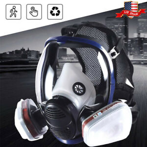7 In 1 Suit Full Face Gas Mask F 3m 6800 Facepiece Respirator Painting Spraying