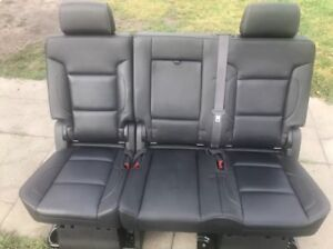 2018 Chevy Suburban Rear Bench 60 40 Black Leather