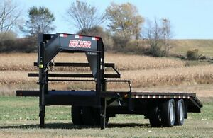 2014 New 25 Low Pro Tandem Dual Flatbed Equipment Trailer 22 400 3 Ramp Led