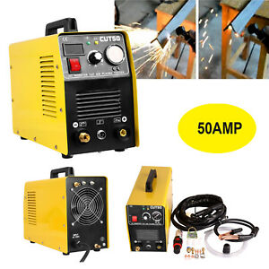 Portable Digital Cutting Machine Inverter Plasma Cutter 50amp Cut50 1 12mm Thick