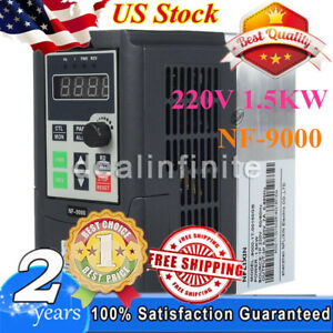 110v 1 5kw Single Phase Input To 3 Phase Output Frequency Converter 2hp Vfd Vsd
