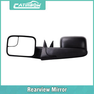 Left Right Manual Tow Flip Up Mirror Set For 1994 02 Dodge Ram 1500 2500 3500