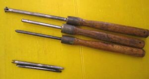 Rare Set Of 3 Vintage Metal Spinning Tools 30 35 With Two Spare Blades