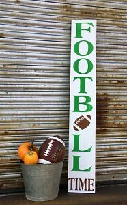 Large Handmade Primitive Wooden Sign Football 4ft Rustic Sport Porch Country Nfl