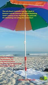 Patent For Sale Real Estate Sign And Beach Umbrella