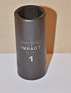 1 Inch Armstrong Usa 20 232 Deep Impact Socket 1 2 Inch Drive 6 Point