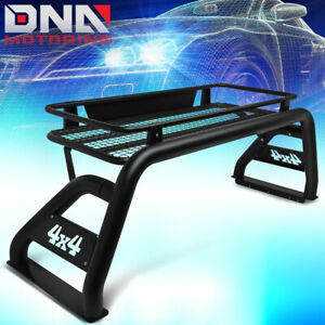 For 2007 2018 Toyota Tundra Rear Truck Bed Aluminum Roll Bar roof Cargo Basket