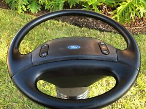 1992 1993 1994 1996 Ford F 150 F 250 F 350 Custom Steering Wheel Leather Oem