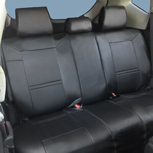 Non slip Cushion Pu Leather Car Rear Seat Covers For Jeep 2095 Black