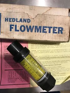 New Hedland In line Flow Meter 3000 Psi 10gpm Free Shipping