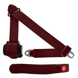 3 Point Retractable Seat Belt With Sleeve Maroon