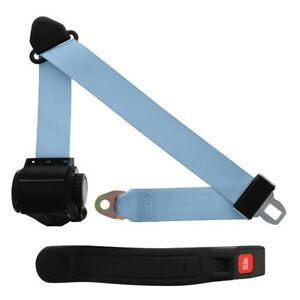 3 Point Retractable Seat Belt With Sleeve Powder Blue