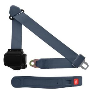 3 Point Retractable Seat Belt With Sleeve Blue