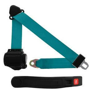 3 Point Retractable Seat Belt With Sleeve Electric Blue