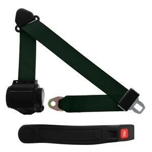 3 Point Retractable Seat Belt With Sleeve Dark Green