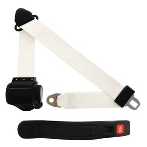 3 Point Retractable Seat Belt With Sleeve White