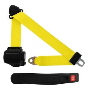 3 Point Retractable Seat Belt With Sleeve Yellow