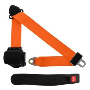 3 Point Retractable Seat Belt With Sleeve Orange