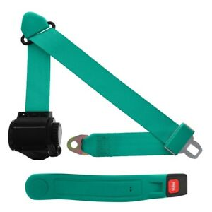3 Point Retractable Seat Belt With Sleeve Turquoise