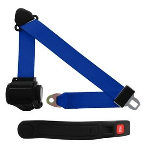 3 Point Retractable Seat Belt With Sleeve Cobalt