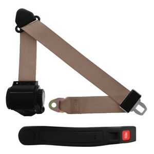 3 Point Retractable Seat Belt With Sleeve Medium Beige
