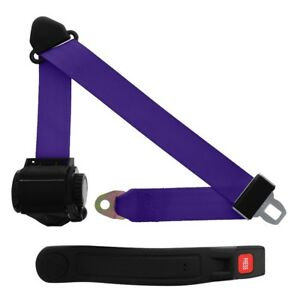 3 Point Retractable Seat Belt With Sleeve Purple