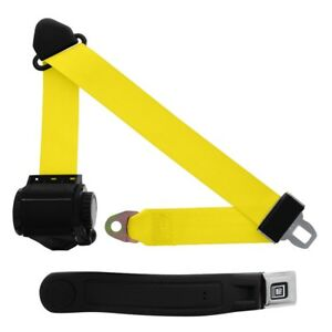 3 Point Retractable Seat Belt With Gm Sleeve Yellow