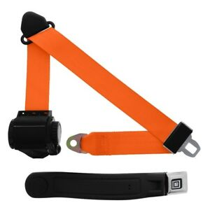 3 Point Retractable Seat Belt With Gm Sleeve Orange