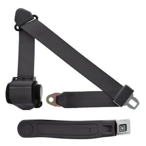 3 Point Retractable Seat Belt With Gm Sleeve Charcoal