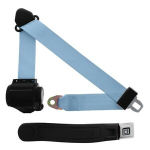 3 Point Retractable Seat Belt With Gm Sleeve Powder Blue
