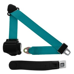 3 Point Retractable Seat Belt With Gm Sleeve Electric Blue