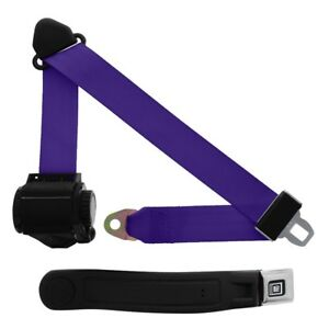 3 Point Retractable Seat Belt With Gm Sleeve Purple
