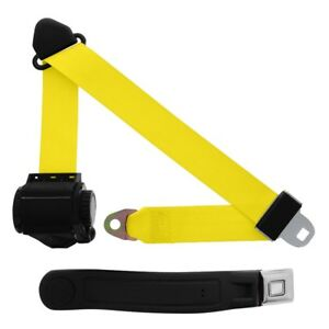 3 Point Retractable Seat Belt With Starburst Sleeve Yellow