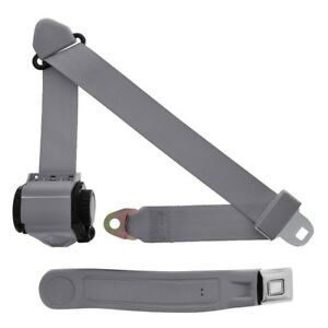 3 Point Retractable Seat Belt With Starburst Sleeve Gray