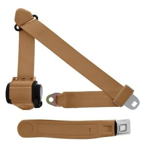 3 Point Retractable Seat Belt With Starburst Sleeve Tan