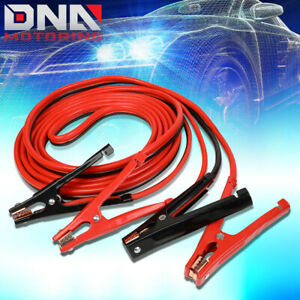 20 500amp Car Battery Booster Cable 4 Gauge Emergency Power Jumper Heavy Duty