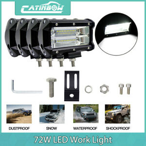 4x 5inch Cree 72w Led Car Work Light Bar Flood Driving Lamp Jeep Truck Offroad