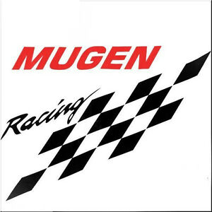 Car Hood Side Fender Decoration Decal Sticker Black Racing Flag Red Mugen