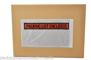 9000 Pouches 5 5 X 10 Panel Face Packing List Enclosed Slip Holders Envelopes