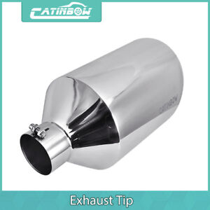 Diesel Stainless Steel Exhaust Tip 4 Inlet 10 Outlet 18 Long Silver