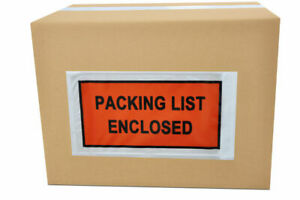 5000 Pieces 4 5 X 5 5 Packing List Enclosed Slip Holders Envelopes Full Face