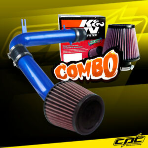 98 02 Honda Accord 3 0l V6 Blue Cold Air Intake K N Air Filter