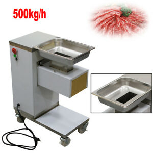 110v 220v Big Meat Cutting Machine Meat Cutter Slicer 500kg h With 3mm Blade Usa