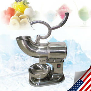 220w 440lbs h Stainless Steel Commercial Ice Shaver Crusher Shaved Icee Maker Us