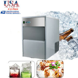 Auto Commercial Ice Maker Portable Ice Cube Machine Restaurant Bar 55lb 240w Us