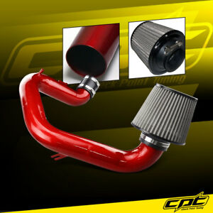 For Corolla 1 8l 4cyl 03 04 Red Cold Air Intake Stainless Air Filter